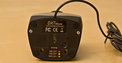 dxt precision mouse unterseite